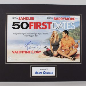 Adam Sandler Signed 18x22 50 First Dates Display