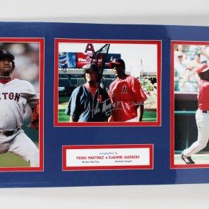 Boston Red Sox Pedro Martinez & Anaheim Angels Vladimir Guerrero Signed 15x31 Display
