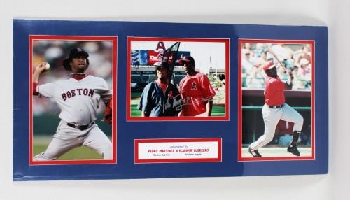 Red Sox - Pedro Martinez & Angels- Vladimir Guerrero Signed 15x31 Display (GAI COA)