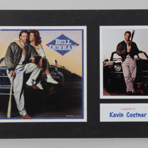 "Kevin Costner Signed 12x14 ""Bull Durham"" Movie Promo Photo"
