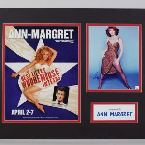 Ann Margret Signed 8x10 Photo in Display