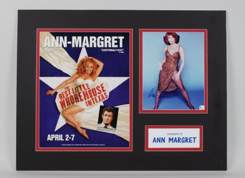 Ann Margret Signed Photo 20x26 Matted Display (GAI)