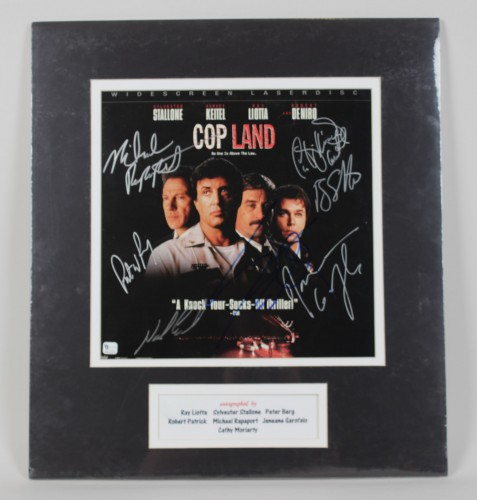 Cop Land Signed 12x12 Movie Promo Poster 7 Sigs. Stallone, Liotta, Berg and others