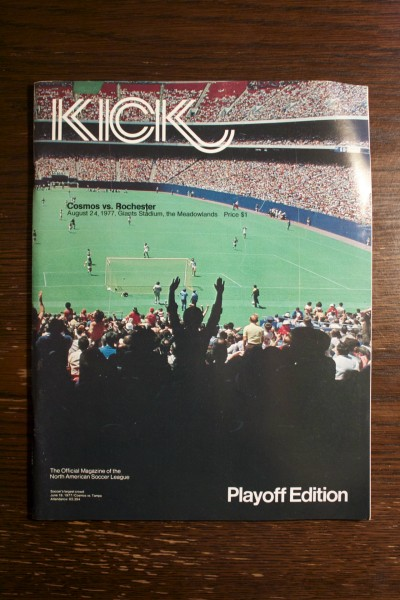 A NY Cosmos Official Match Programme from August 24, 1977.  Cosmos v Rochester.  NASL Playoffs.