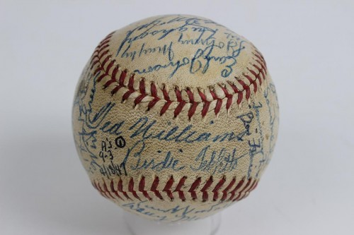 1947 Red Sox Team Signed OAL (Harridge) Baseball 35 Autographs (JSA Full LOA)