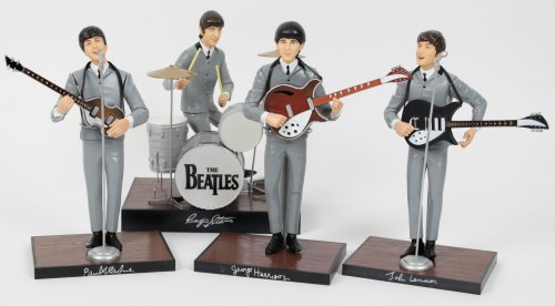 1991 The Beatles Apple Corps Hamilton Doll Figurines Complete Set (w/Hang Tags)