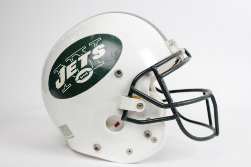 New York Jets - Keyshawn Johnson Game-Worn Helmet - COA