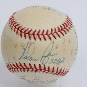 300 Win Club Multi-Signed Baseball 7 Sigs. - COA PSA/DNA