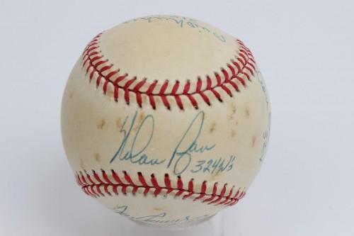 300 Win Club Multi-Signed & Inscribed Baseball 7 Sigs. - PSA/DNA Full LOA