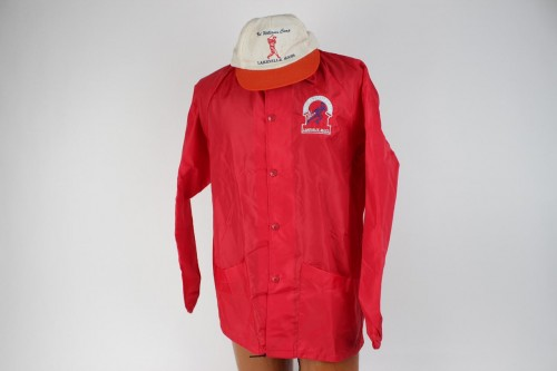 "Vintage 1958 ""Ted Williams Camp"" Baseball Jacket & Cap"