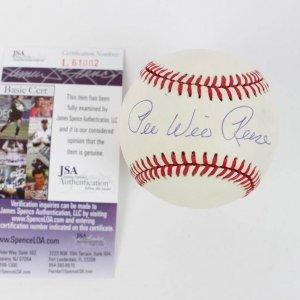 peewee resse signed baseball