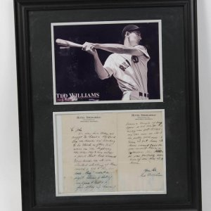 ted williams signed letter