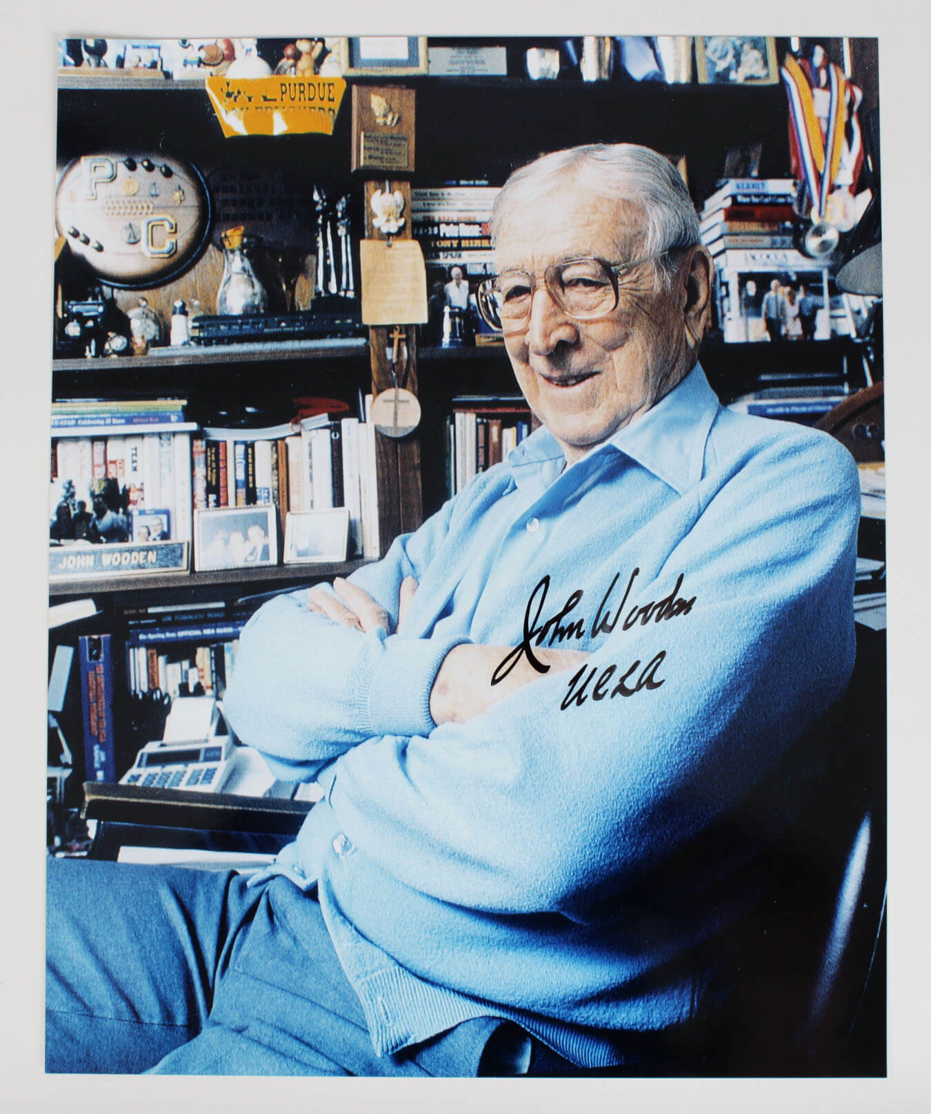 UCLA Bruins Coach John Wooden Signed 16×20 Photo9316_01