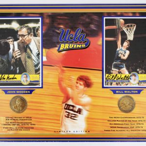UCLA Bruins John Wooden & Bill Walton Signed 12x16 Display