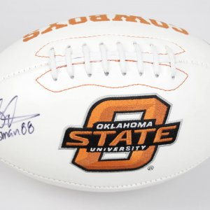 Oklahoma State University Cowboys Barry Sanders Signed Rawlings Football