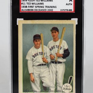 "1959 Fleer Boston Red Sox Ted Williams Signed ""1938-First Spring Training"" Card"