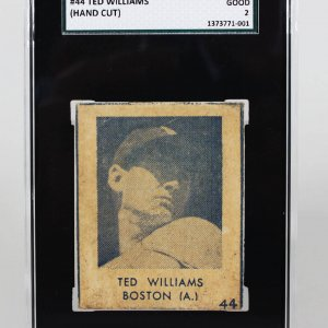 1948 Boston Red Sox Ted Williams R346 Blue Tint #44 (Hand Cut) SGC Good