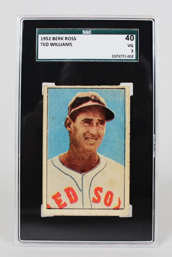 1952 Boston Red Sox - Ted Williams Berk Ross Baseball Card - SGC Slab