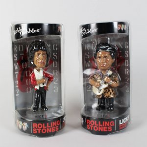 2002 Rolling Stones Mick Jagger & Keith Richards Bobble Dobbles