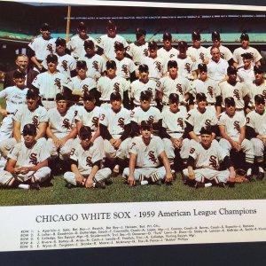 Group of 15-1959 CHICAGO WHITE SOX BASEBALL WORLD SERIES 11X14 TEAM PHOTO