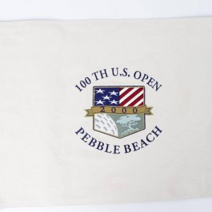 SB** 2000 100TH U.S. Open Pebble Beach Canvas Pin Flag - (Third Tiger Woods Major Victory)