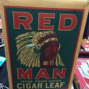 1952 Red Man Tobacco Advertising Large Display Box that held Baseball Cards