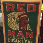 1952 Red Man Tobacco Advertising Large Display Box that held Baseball Cards