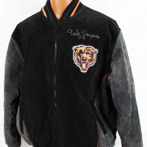 """Chicago Bears - Gale Sayers Signed, Autographed """"40"""" NFL Jacket Coat"""