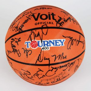 All Star Basketball Signed by 40+ Incl. Auerbach,  Erving, Abdul-Jabbar & Others (JSA)