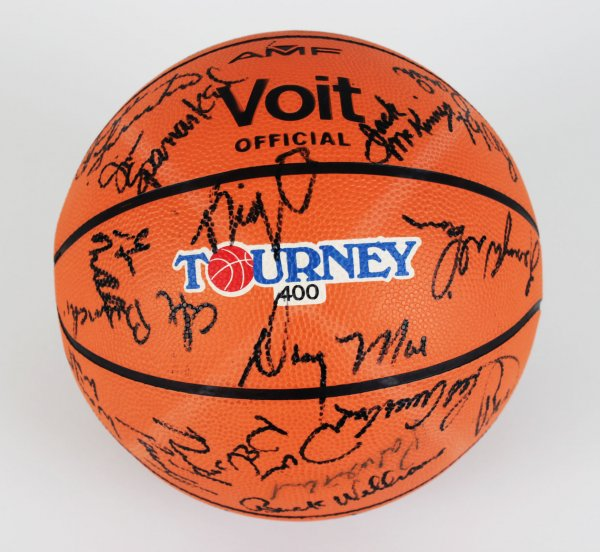 All Star Ball Signed - 41 Sigs. Red Auerbach, Julius Erving, Kareem Abdul-Jabbar & Others