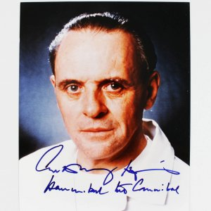 "Silence of the Lambs Actor - Anthony Hopkins Signed, Inscribed ""Hannibal the Cannibal"" 8x10 Photo (JSA Full LOA)"