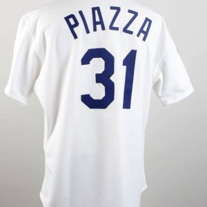 1993 Los Angeles Dodgers - Mike Piazza Game-Worn Rookie Jersey (feat. Memorial Patches)