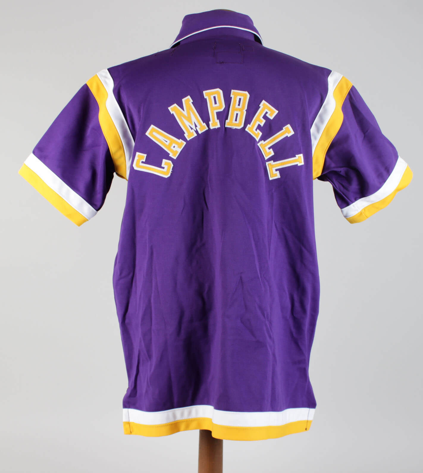 Los Angeles Lakers Elden Campbell Game Worn Warm Up Jacket