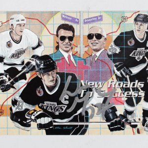 92-93 Los Angeles Kings Wayne Gretzky Signed- Limited Edition # 0293/7000 UD Card