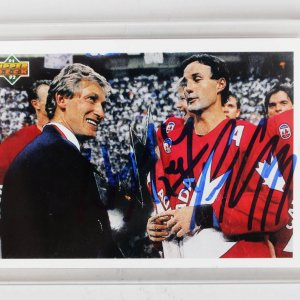 1992 Wayne Gretzky & Paul Coffey Signed Upper Deck Card