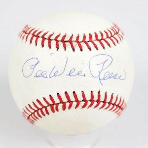 Brooklyn Dodgers Pee Wee Reese Signed ONL Feeney Ball