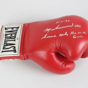 Muhammad Ali Signed, Dated (10/7/89) & Inscribed Everlast Boxing Glove (JSA)