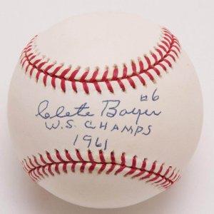 "Yankees - Clete Boyer Signed, Inscribed ""W.S. Champs 1961"" Baseball (PSA/DNA COA)"