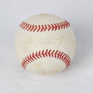Baltimore Orioles - Cal Ripken, Jr. Signed OAL (Brown) Baseball