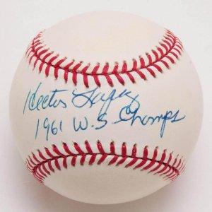 NY Yankees - Hector Lopez Signed & Inscribed OAL Baseball - COA PSA/DNA