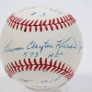 "Harmon Killebrew Single-Signed, (Full Name) Inscribed ""573 HRs"" HOF-1984 #3, AL-MVP 1969 OAL( Brown) Ball"