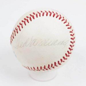Boston Red Sox HOFers Signed Baseball Ted Williams, Carl Yastrzemski & Wade Boggs