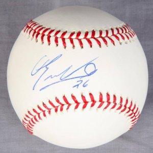 Eduardo Nunez Signed OML Selig Baseball