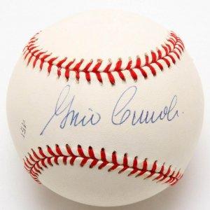 Brooklyn Dodgers - Gino Cimoli Signed ONL White Baseball