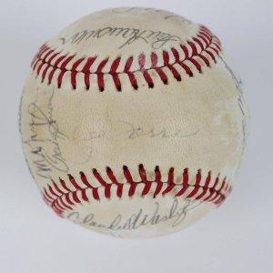 1980 New York Mets Team-Signed ONL (Feeney) Baseball 21 Sigs. Incl. Mookie Wilson, Joe Torre, Jeff Reardon etc.