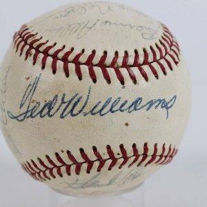 1970 Washington Senators Spring Training Team-Signed OAL Baseball 21 Autographs Incl. Ted Williams, Nelson Fox, Johnny Roseboro, Lee Maye, Mike Epstein, Del Unser et al. (JSA Full LOA)