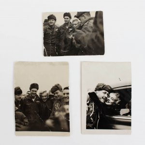 "Vintage Original Marilyn Monroe Personal Korean War Troop 2x 2 1/4"" Photos (3)"