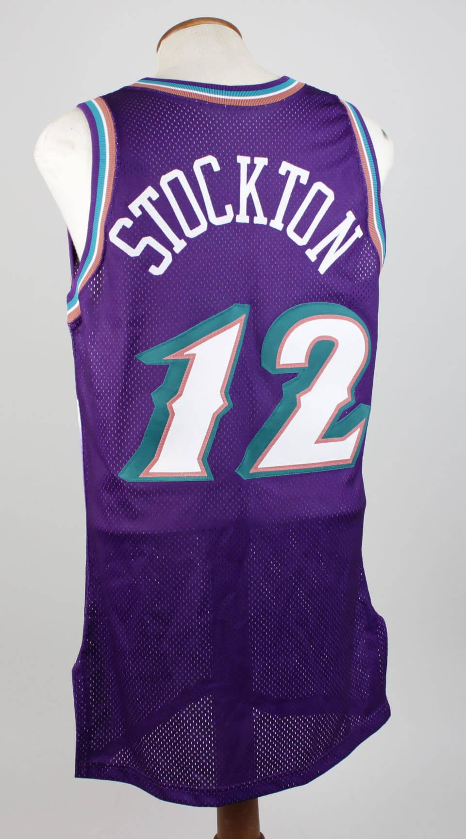 8ef7302f5 John Stockton Utah Jazz 1996-97 Game-Worn Jersey