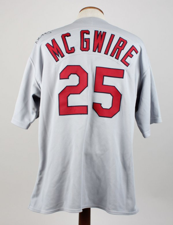 1998 St. Louis Cardinals Mark McGwire Game-Worn Road Jersey
