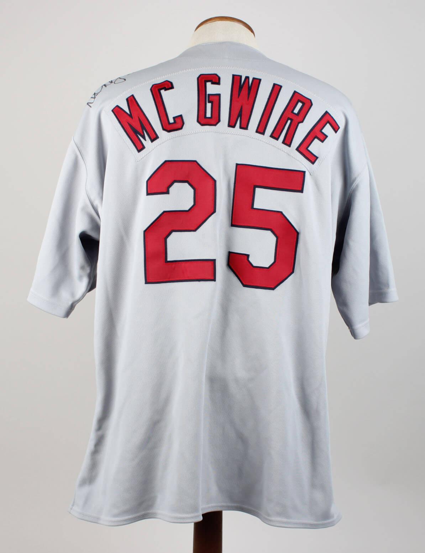 quality design fce5e 3dcdd 1998 St. Louis Cardinals Mark McGwire Game-Worn Road Jersey